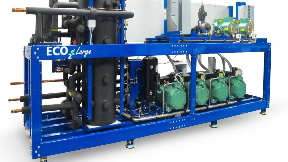 Massima efficienza e riduzione dei consumi,  con la centrale Eco2Large a CO2 transcritico