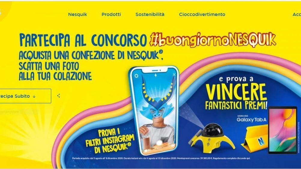 Nesquik: in tv con la nuova campagna e online con una digital promo
