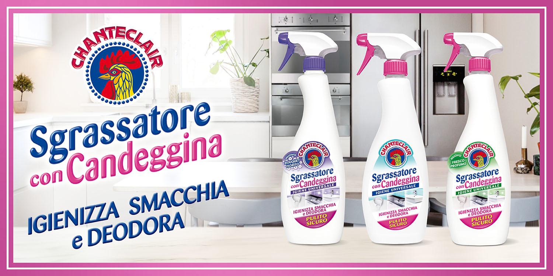 Chanteclair sgrassatore con candeggina: pulito e igiene universale!