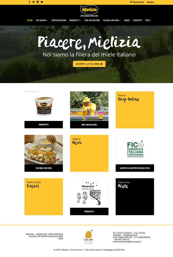 Mielizia, restyling del sito e lancio dell'e-commerce